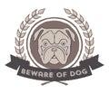 Beware Of Dog Badge