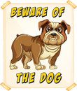 Beware of dog the poster Stock Images