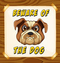 Beware of the dog Royalty Free Stock Photo