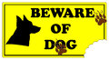 Beware of Dog Sign Stock Photography