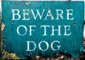 Beware Dog Sign Royalty Free Stock Image