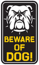 Beware of dog sign design label Royalty Free Stock Images