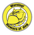 Beware of dog vector illustration an angry bulldog head Royalty Free Stock Image