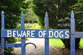 Beware Of Dogs Stock Image