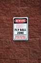 Beware - Fly Ball Zone Royalty Free Stock Image