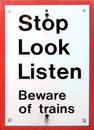 Beware Of Trains Stock Photography