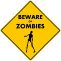 Beware of Zombies Royalty Free Stock Photo