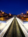 Bexhill train station at night Royalty Free Stock Image