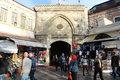 Beyazit Gate - Grand bazaar shops in Istanbul. Royalty Free Stock Photo