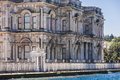 Beylerbeyi palace along the bosphorus strait in istanbul Royalty Free Stock Photo