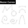 Bezier curves set