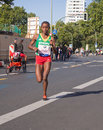 Bezunesh Bekele at Berlin Marathon 2015 Royalty Free Stock Photo