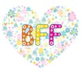 BFF. Best Friends Forever. Greeting card. Royalty Free Stock Photo