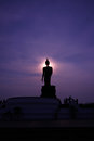 Bhudda puhtthamonthon in thailand travel with landscape twilight Stock Image