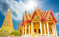 Bhuddist Pagoda Temples And Church In Thailand Travel Place Royalty Free Stock Photo