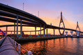 Bhumibol bridge in bangkok thailand Stock Images