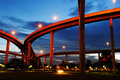 Bhumibol Bridge (the Industrial Ring Road Bridge) Stock Photography