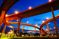 Bhumibol Bridge (the Industrial Ring Road Bridge) Stock Images