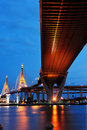 Bhumibol Bridge (the Industrial Ring Road Bridge) Stock Image