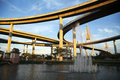 Bhumibol Bridge, The Industrial Ring Road Bridge Stock Photo
