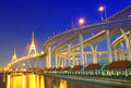 Bhumibol Bridge in Thailand Stock Images