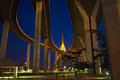 Bhumibol Bridge of Thailand Royalty Free Stock Photo