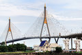 Bhumibol bridge in thailand with blue sky Royalty Free Stock Photo