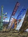 Bhutan - Buddhist Prayer Flags Stock Image
