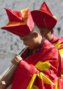 Bhutan - Musician at the Paro Tsechu Stock Images