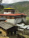 Bhutan - Paro Dzong (Monastery) Royalty Free Stock Photo