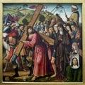 Biagio D`Antonio. The bearing of the cross. Louvre Royalty Free Stock Photo