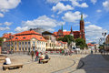Bialystok poland city life at the market square on july in is the largest city in northeastern and the capital of Stock Image