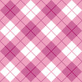 Bias Plaid in Pink Royalty Free Stock Image