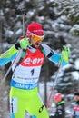 Biathlon fak jakov world cup in nove mesto na morave at czech republic men km pursuit from slovenia Royalty Free Stock Images