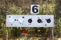 Biathlon targets three missed Stock Photos