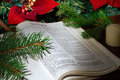 Bible Christmas tableau Stock Photos