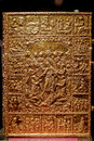 Bible cover gold bizantin romano thesaurus Royalty Free Stock Photography
