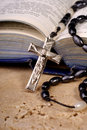 Bible And Crucifix Royalty Free Stock Images