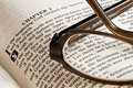 Bible and Glasses Royalty Free Stock Photo