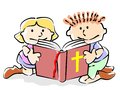 Bible kids Royalty Free Stock Image