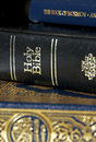 Bible and Koran (Qur'an) and Book of Mormon Royalty Free Stock Photography