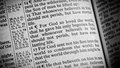 A bible opened to john the verse Royalty Free Stock Photo