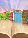 Bible parables narrow gate road to life Royalty Free Stock Photo