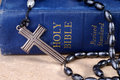 Bible And Rosaries Stock Images