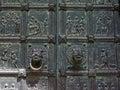 Bible scenery on bronze door artwork Royalty Free Stock Photo