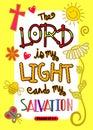 Bible Scripture Art Poster Royalty Free Stock Photo