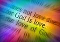 Bible text GOD IS LOVE - 1 John 4:8 Royalty Free Stock Photo