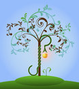 Bible tree of knowledge Royalty Free Stock Image