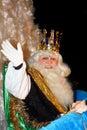 Biblical Magi white king Royalty Free Stock Image