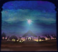 Biblical scene birth of jesus in bethlehem bethlehemraster illustration Royalty Free Stock Images